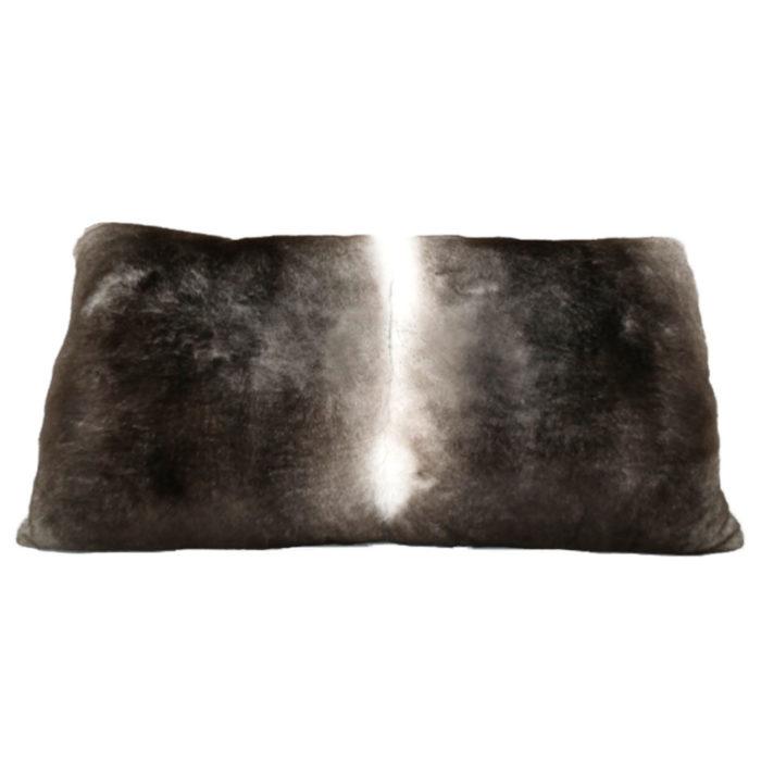Grey Fur Cushion recto Caresse Orylag