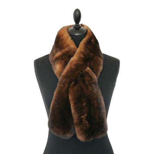 Brown Fur Scarf Caresse Orylag