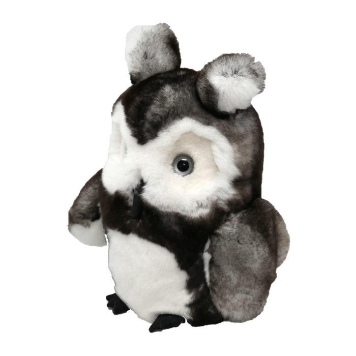 Peluche Hibou gris profil Caresse Orylag 2