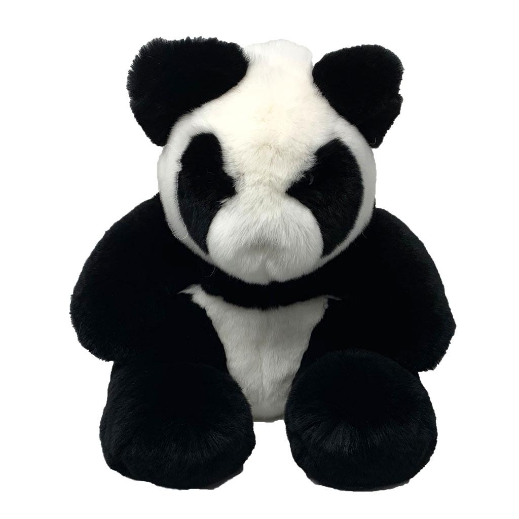 Peluche Panda noir blanc face Caresse Orylag 1