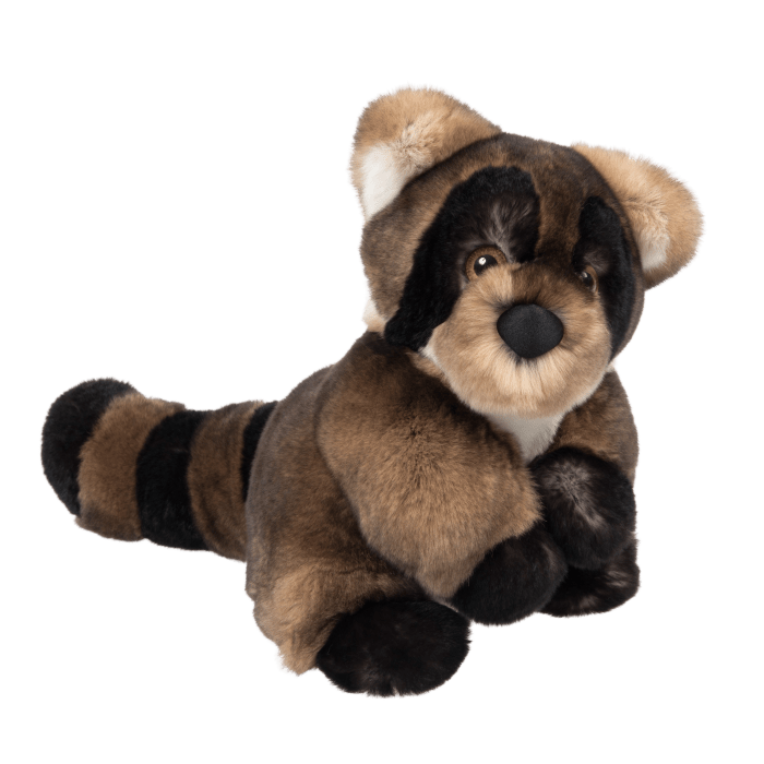 Soft Toy Raccoon Brown profil