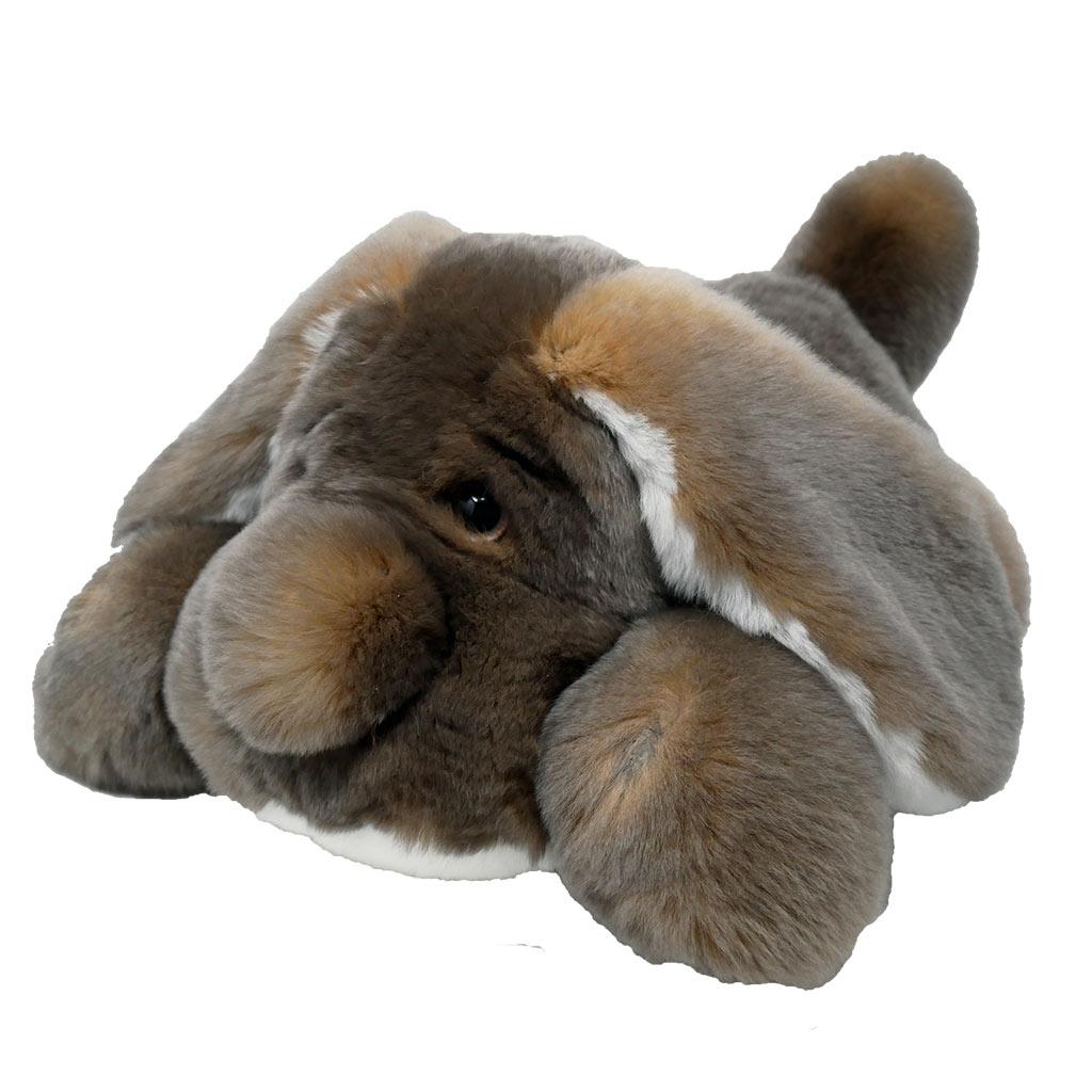 Peluche chien dormeur blanc cendré M Caresse Orylag 2
