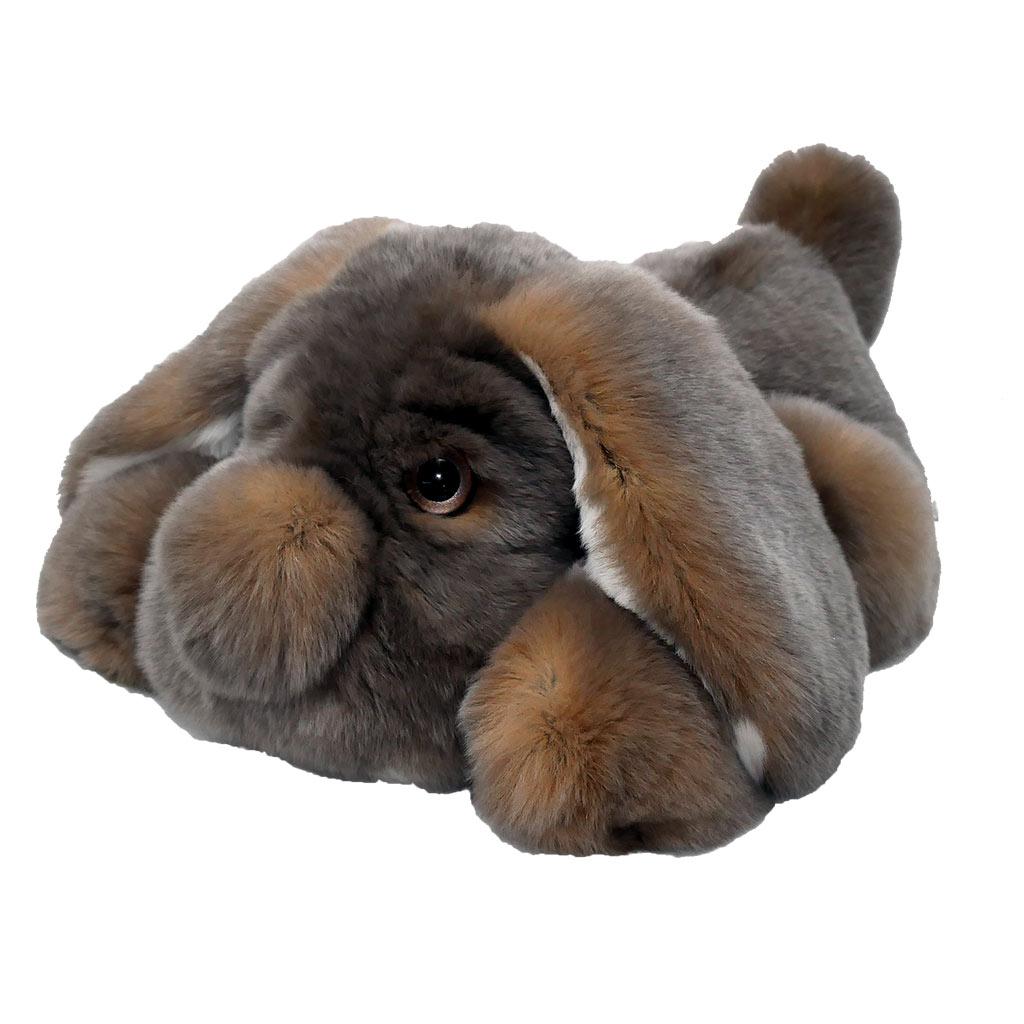 Peluche chien dormeur blanc cendré S Caresse Orylag 2