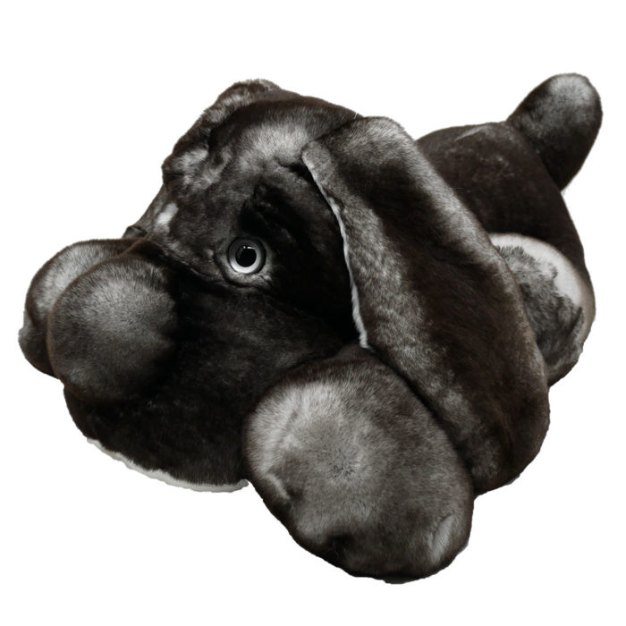 Peluche chien dormeur gris XL Caresse Orylag 2
