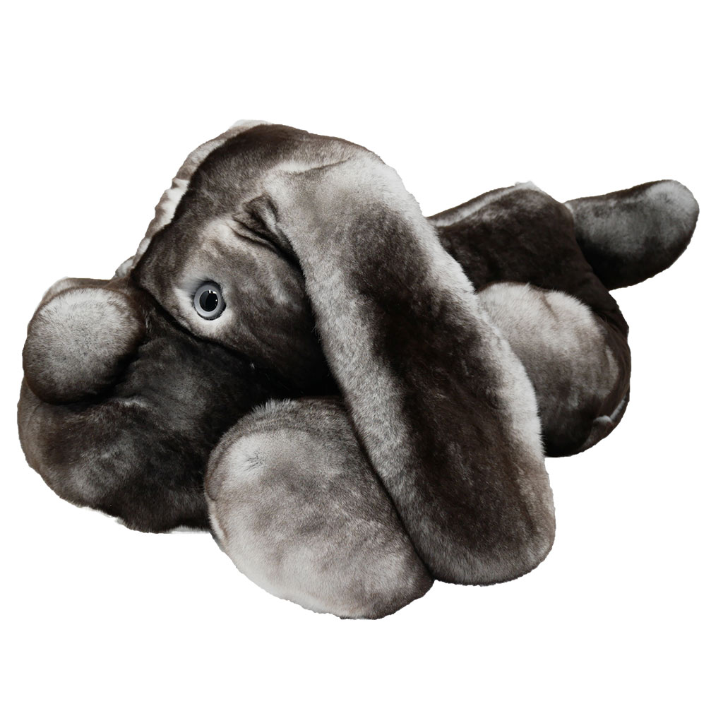 Peluche chien dormeur gris XXL Caresse Orylag 2