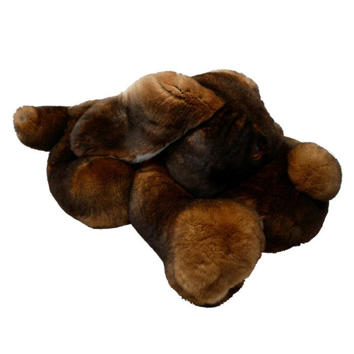 Peluche chien dormeur marron XXL Caresse Orylag 2
