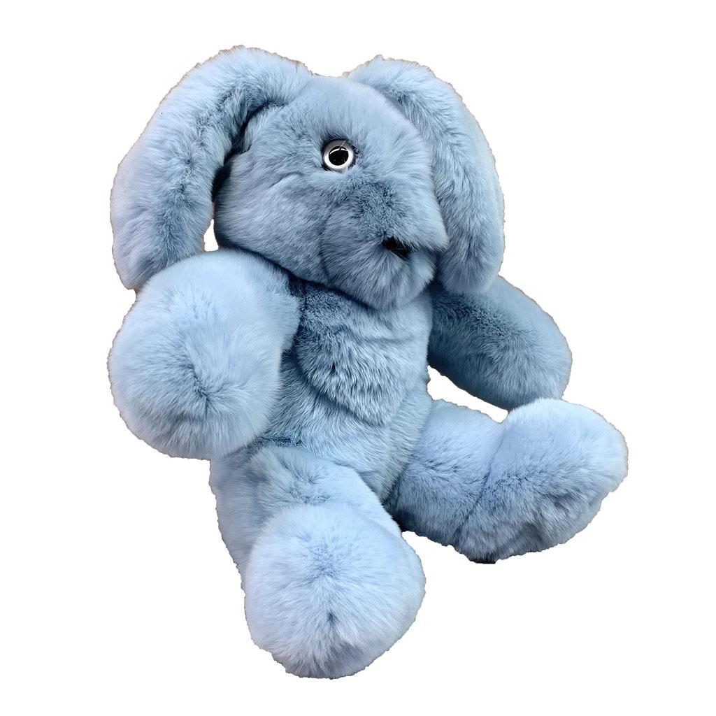 Rabbit soft toy bleu ciel S Caresse Orylag 2