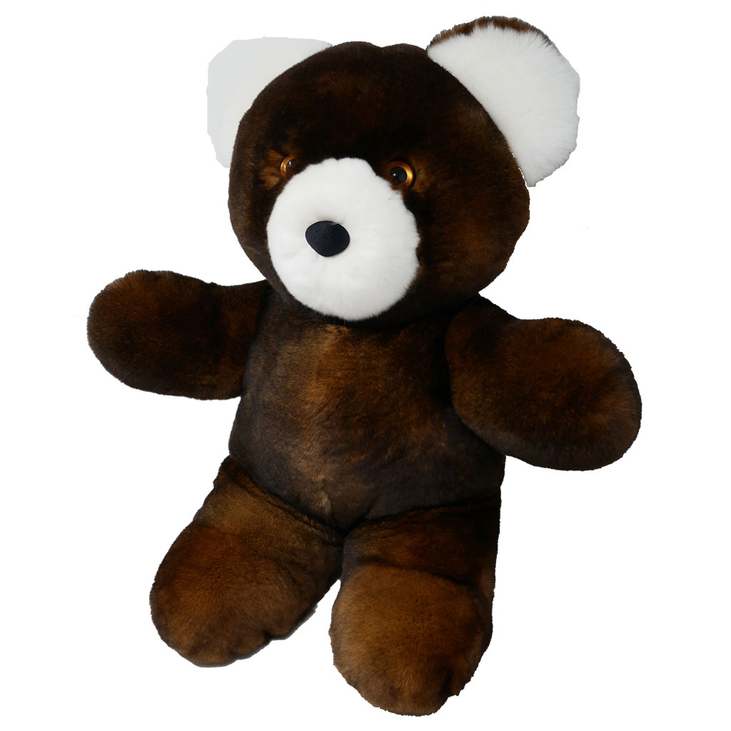 Peluche ours marron M Caresse Orylag 2