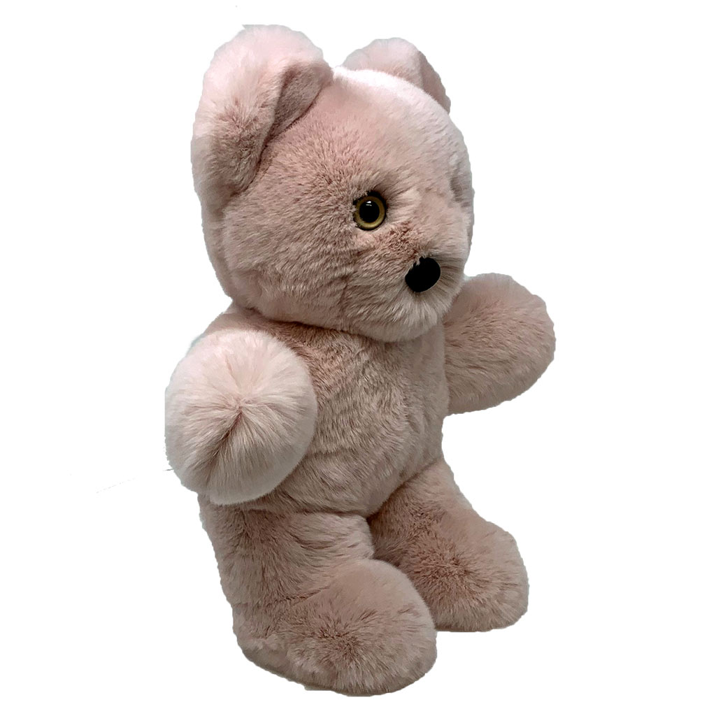 Peluche ours rose dragée S Caresse Orylag 2