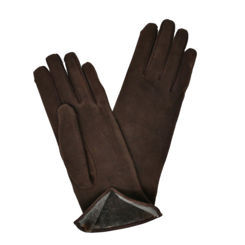 Women Leather and Fur Gloves caresse orylag