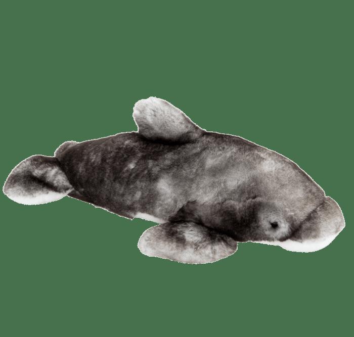 peluche Dauphin gris profil droit