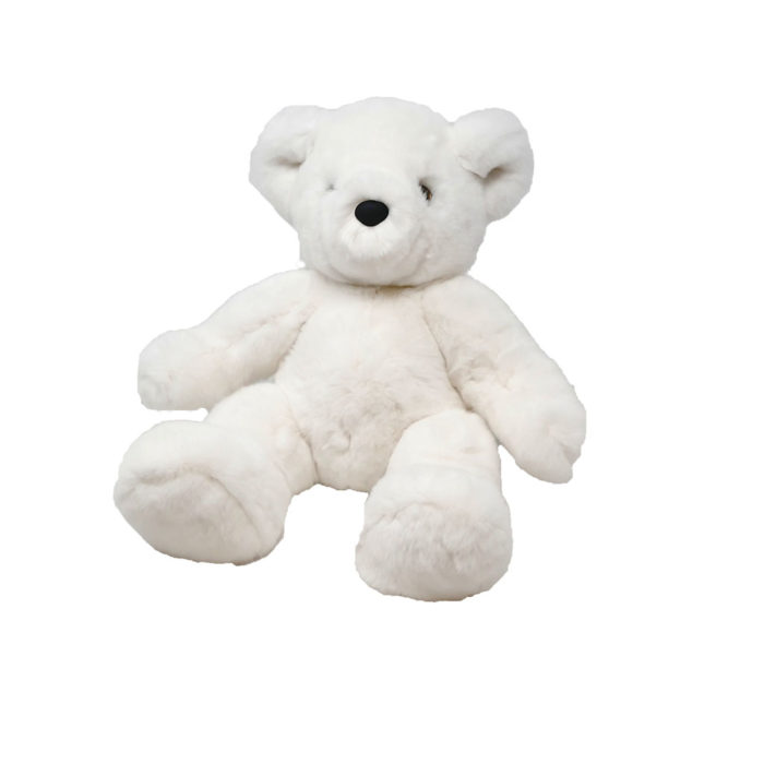 Teddy Bear Soft toy White Caresse Orylag