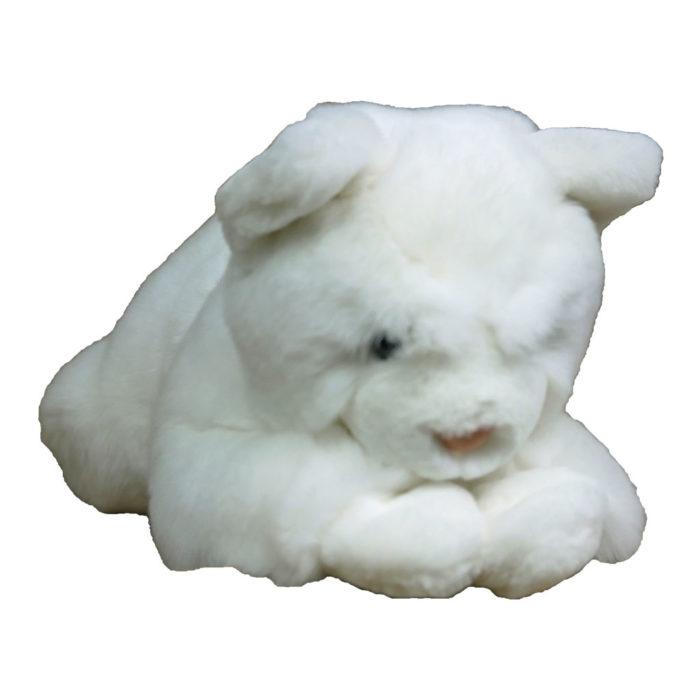 peluche chat blanc M caresse orylag 1