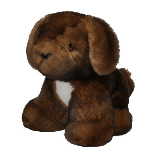 peluche chiot marron caresse orylag