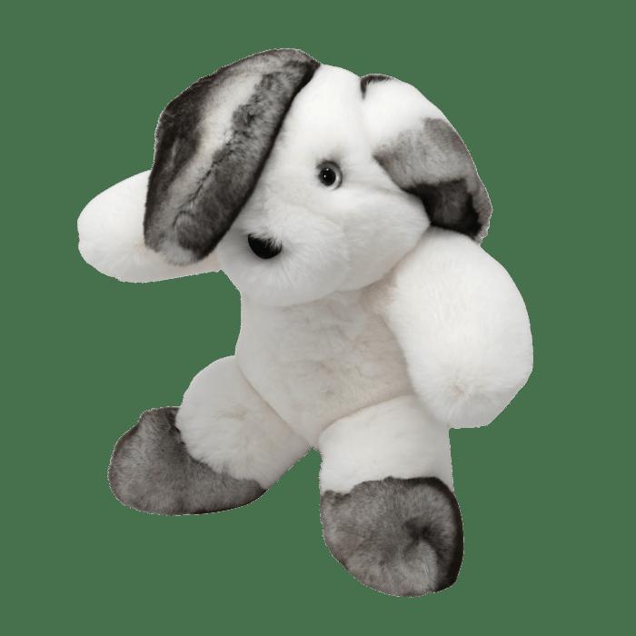 Rabbit soft toy Blanc Gris Taille S profil Caresse d'Orylag