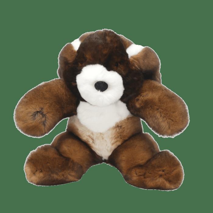 Rabbit soft toy marron s face2 caresse orylag