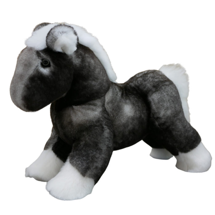 Soft toy Horse Natural Grey