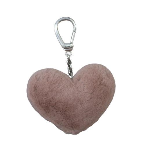 Keyholder Heart Vieux Rose Rasé