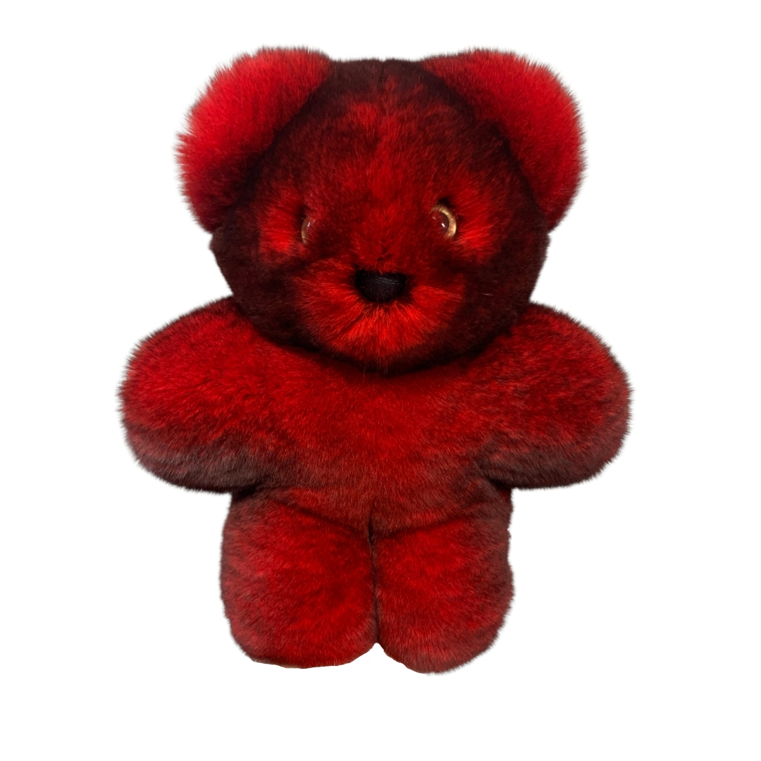 Stuffed Animal Red Bear Cub Caresse Orylag