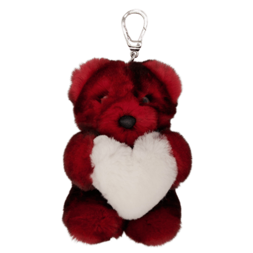 Teddy Bear Keyholder Heart